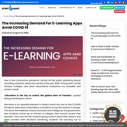 The Increasing Demand For E-Learning Apps Amid COVID 19