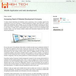 High tech It solution : Increasing Need of Website Development Company