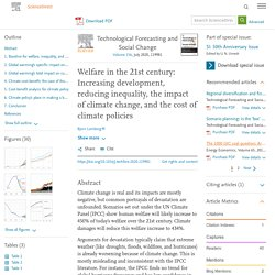 Welfare in the 21st century: Increasing development, reducing inequality, the impact of climate change, and the cost of climate policies