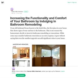 Increasing the Functionality of Bathroom by Hiring Remodeling Services