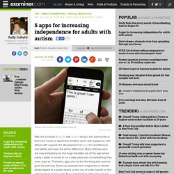 5 apps for increasing independence for adults with autism