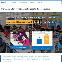 Increasing Literacy Rates with Purposeful iPad Integration