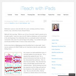 Increasing Math Literacy with iPads | iTeach with iPads