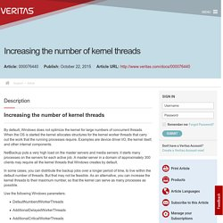 Increasing the number of kernel threads