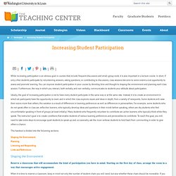 Increasing Student Participation | The Teaching Center