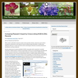 Increasing Research Impact by Cross-Linking NCBI & EMu Records - The Plant Press