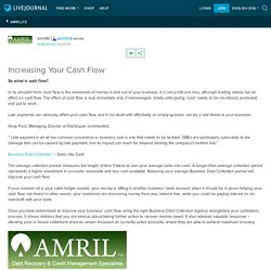 Increasing Your Cash Flow