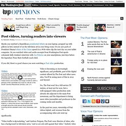 Video becoming increasingly significant for Washington Post