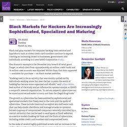 Le marché noir pour les pirates sont de plus en plus complexes spécialisés et Elevage