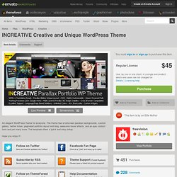 INCREATIVE Creative and Unique WordPress Theme
