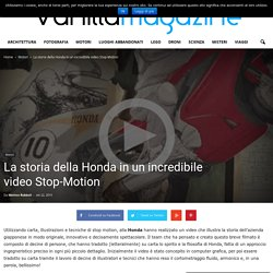 La storia della Honda in un incredibile video Stop-Motion