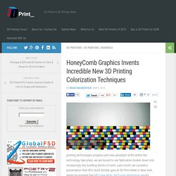 HoneyComb Graphics Invents Incredible New 3D Printing Colorization Techniques