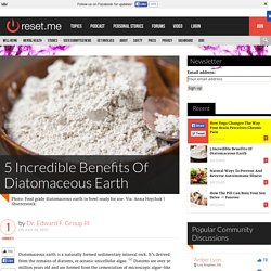 5 Incredible Benefits Of Diatomaceous Earth
