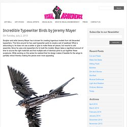 Incredible Typewriter Birds by Jeremy Mayer // Visual Disobedience