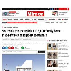 See inside this incredible £125,000 family home - made entirely of shipping containers