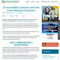 24 Incredible Lessons Learned From Being In Business