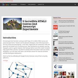 9 Incredible HTML5 Canvas And Javascript Experiments