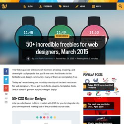 50+ incredible freebies for web designers, March 2015