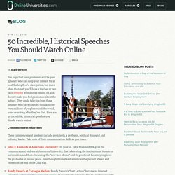 50 Incredible, Historical Speeches You Should Watch Online