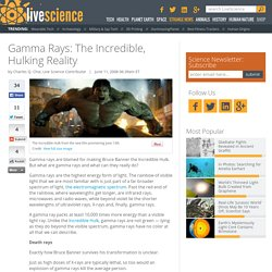 Gamma Rays: The Incredible, Hulking Reality