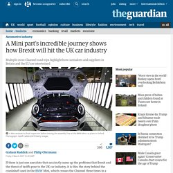 *****A Mini part's incredible journey shows how Brexit will hit the UK car industry