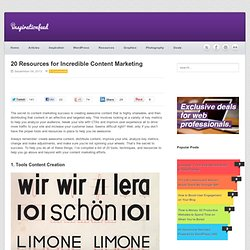 20 Resources for Incredible Content Marketing