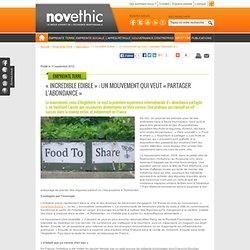 « Incredible Edible » : un mouvement qui veut « partager l'abondance » - Agriculture - Environnement - écologie et environnement