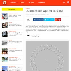 25 Incredible Optical Illusions - StumbleUpon