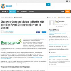 Shape your Company's Future in Months with Incredible Payroll Outsourcing Services in Mumbai