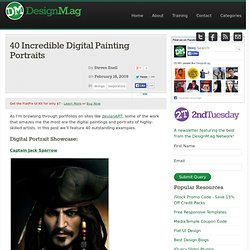 40 Incredible Digital Painting Portraits - Web Design Blog – DesignM.ag