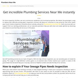 Get incredible Plumbing Services Near Me instantly