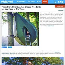 These Incredible Raindrop Shaped Tree Tents Let You Sleep In The Trees