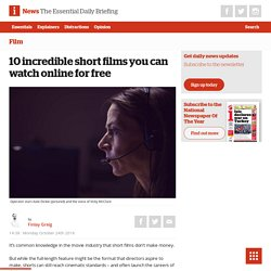 10 incredible short films you can watch online for free