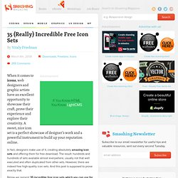 35 (Really) Incredible Free Icon Sets - Smashing Magazine