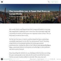 Jun, la petite ville espagnole gérée sur Twitter