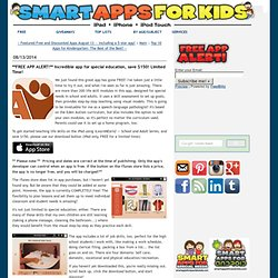**FREE APP ALERT!** Incredible app for special education, save $150! Limited Time!