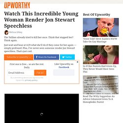 Watch This Incredible Young Woman Render Jon Stewart Speechless