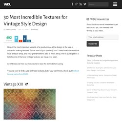 30 Most Incredible Textures for Vintage Style Design