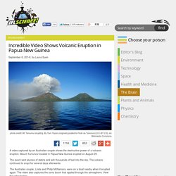 Incredible Video Shows Volcanic Eruption in Papua New Guinea