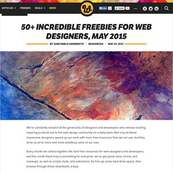 50+ incredible freebies for web designers, May 2015