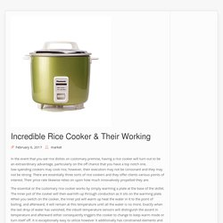 Incredible Rice Cooker & Their Working – Reviews – Get Updated with Shopping, gadget and health