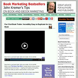 Fun Book Trailer: Incredibly Easy to Duplicate for Any Book