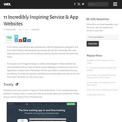 11 Incredibly Inspiring Service & App Websites