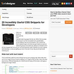 25 Incredibly Useful CSS Snippets for Developers