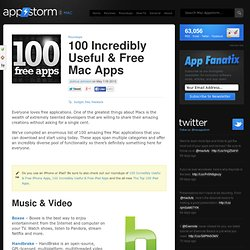 100 Incredibly Useful & Free Mac Apps