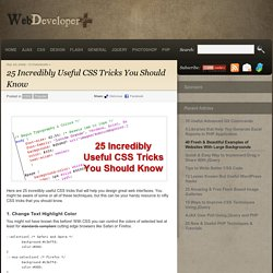 25 Incredibly Useful CSS Tricks (css)