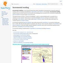 Incremental reading - supermemo.guru