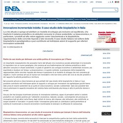 ENEA - bioplastiche in Italia