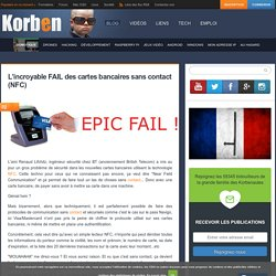 L'incroyable FAIL des cartes bancaires sans contact (NFC)