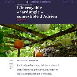 "L'incroyable ""jardungle"" comestible d'Adrien"